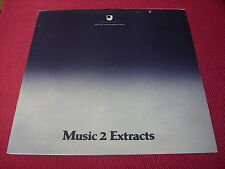 Open University/Various:  Music Extracts 1 & 2  1978 double LP