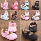 Lovely Baby Infant Toddler Crib Shoes Boy Girl Bowknot Flower Soft sole Princess