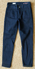 New GAP 1969 SEXY BOYFRIEND Women Jeans Pleated Trouser Dark Denim Pants 24/00