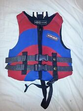 SKI Wake Board VEST Ocean Pacific Type III PFD Child Sz 30-50 lbs Red Blue EUC