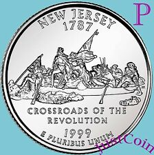 1999-P NEW JERSEY STATE (NJ) QUARTER UNCIRCULATED FROM U.S.MINT * STATE QUARTERS