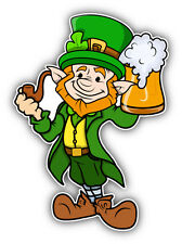 "Leprechaun Beer Car Bumper Sticker Decal 4"" x 5"""