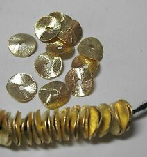 GP Gold Plated 10mm Round Wavy Cornflake Chip 50 Spacer Beads Accent Jewelry Cra