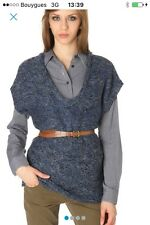 pull laine Bel Air taille 2 3 40 42  bleu Maje Américan Vintage Lilith Com neuf