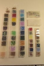 Large Lot of DIY Jewelry Making Beads Glass with Plastic Storage Case