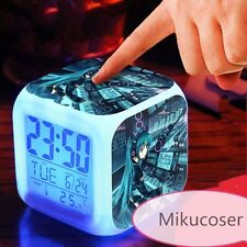 Touch Light Led Alarm Clock Japanese Anime Cosplay Hatsune Miku Change Color New