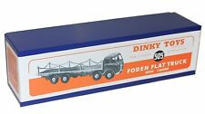 DINKY Reproduction Box 505 Foden Flat Truck With Chains (905) 1st cab