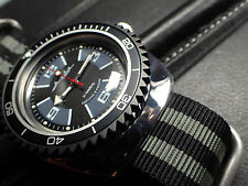 BOCTOK VOSTOK MATT BLACK COATED - THE.SHARK.ONE - ROTATING BEZEL DW-04-MB