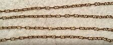 VINTAGE  LARGER PEANUT SHAPE LINK SOLID BRASS JEWELRY CHAIN 8 FT