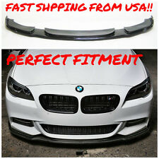 11-16 REAL CARBON FIBER FRONT LIP FOR BMW F10 MTECH M TECH M SPORT FRONT BUMPER