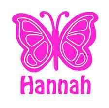 Butterfly & Name Decal Sticker for Car, Yeti, Laptop, Travel Mug, Tumbler.