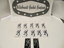 "BROWNING STICKERS 3"" GLOSS BLACK (ON SALE 10 FOR $9.99ca +2 FREE !) FAST SHIP !"