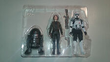 Star Wars Rogue One Rapid Fire Imperial AT-ACT Driver C2-B5 Jyn Erso Figure Set
