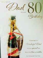 Dad 80th Birthday Card