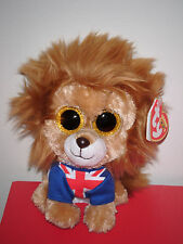 """Ty Beanie Boos ~ HERO the 6"""" Lion (Glitter / Sparkly Eyes) ~ UK Exclusive NEW"""
