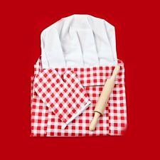 Rosypearl Red Gingham Chef Outfit Set  CH1077