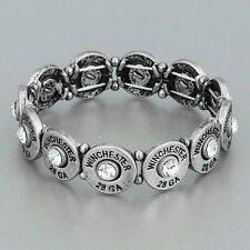 Antique Silver Winchester 28 GA  Stretchable Bracelet