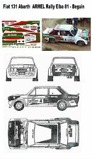 Decal - Fiat 131Abarth - ARMEL  - Beguin -  Rally Elba 1981