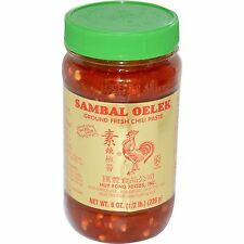 Sambal Oelek Ground Fresh Chili Paste 8oz Huy Fong Foods Rooster Brand NEW Stock