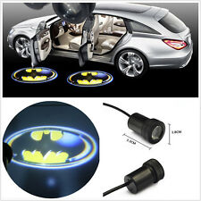 2 Pcs 12V 3D Batman Emblem Automobile Door Welcome LED Projector Lamp With Drill