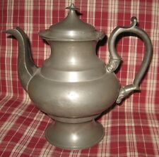 MID 19TH CENTURY AMERICAN PEWTER COFFEE POT marked '8' EXCELLENT CONDITION