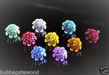 144  FLOWER Bulbs 9 Color Ceramic Christmas Tree Twist flame light crafts star