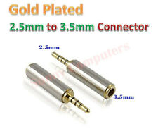 3.5mm Female to 2.5mm Male 4 Pole Stereo Gold Plated Audio Mic Socket Connector
