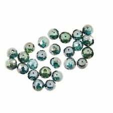 Certified 9 Cts 5 mm Loose Blue Diamond Beads.10 Beads.Certified AAA