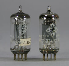 12AX7 / ECC83 Tubes Telefunken Smooth Plate Strong Pair