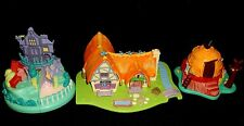 Polly Pocket Disney light UP Snow White cottage, Pocahontas, 101 Dalmatians