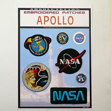 NASA APOLLO VII, XV11 Missions Patch Set - Iron-On Patch Mega Set #087
