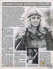 Coupure de presse Clipping 1980 Sylvester Stallone   (4 pages)  & Susan Anton