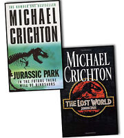 Michael Crichton Jurassic Park 2 Books Collection Pack Set The Lost World Lost W