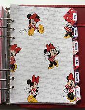 Organizador Filofax A5 Planificador-etiquetados Separadores De Minnie Mouse-Totalmente Laminado