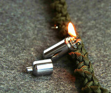 EDC Gear Survival Chrome Waterproof Mini Peanut Capsule Lighter Pocket Key Chain