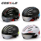 Costelo bicycle Helmet MTB Road Bike Helmet Bicycle Helmet with Goggles lens