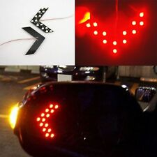 2Pcs Red Arrow Indicator 14SMD LED Car Side Mirror Turn Signal Lights For Honda