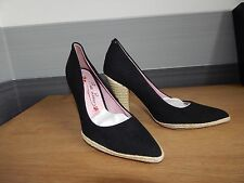 Poetic Licence Ladies Black Pointed Court Shoes In Size 38 UK 5