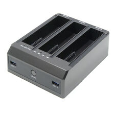 "USB 3.0 to 2.5"" 3.5"" 3 SATA Bay HDD Clone Dock Up to 4TB & 2 x USB3.0 Hub 5Gbps"