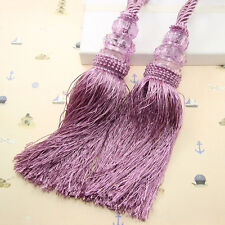 Crystal tassel beaded tiebacks windows curtain fringe ties backs home  decor
