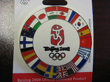 Lot of 25 Beijing 2008 Olympic Pin - Flags Of The Summer Games Oversized Pin