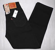 NWT LEVI'S 550 MEN'S RELAXED FIT JEANS W31 L32 BLACK 31X32