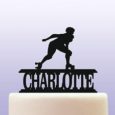 Personalised Acrylic Roller Skating Birthday Cake Topper Decoration