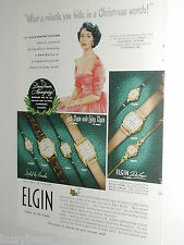 1949 Elgin Watch advertisement, teenage Elizabeth Taylor, Christmas present
