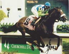 BARBARO 8X10 PHOTO HORSE RACING PICTURE JOCKEY EDGAR PRADO KENTUCKY DERBY