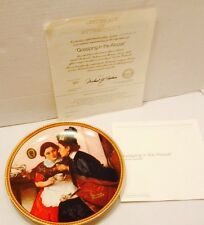 Knowles Collector Plate Gossiping In The Alcove Norman Rockwell Coa Papers
