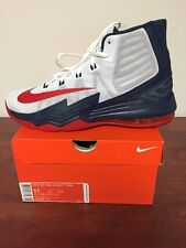 MEN'S NIKE AIR MAX AUDACITY 2016 SIZE 11 WHITE/RED/BLUE 843884 101 NEW IN BOX.