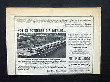 C757 - Advertising Pubblicità- 1953 - PORT OF LOS ANGELES