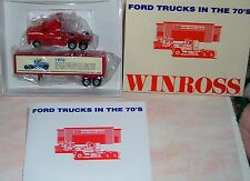 1991 History of Ford Trucks #12 1976 Winross Diecast Delivery Trailer Truck