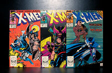 COMICS: Marvel: Uncanny X-Men #256-258 (1990s) set (3 bks), 1st Psylocke - RARE